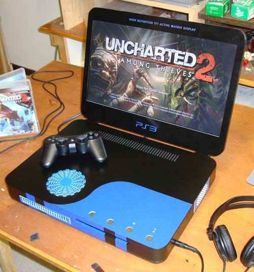 PS3 Slim Laptop from Ben Heck