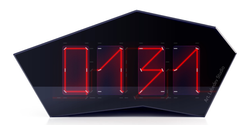 Art Lebedev's Reflectius Clock Uses Lasers and Mirrors