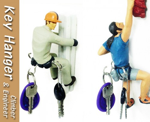 rock climber key holder 500x406 Pinboard