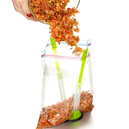 Stay Open Bag Holder Makes Filling Bags Simple