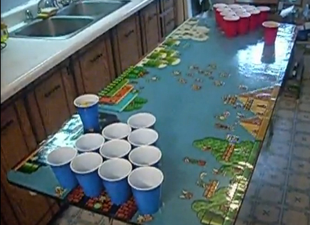 super mario beer pong table Super Mario Beer Pong Table
