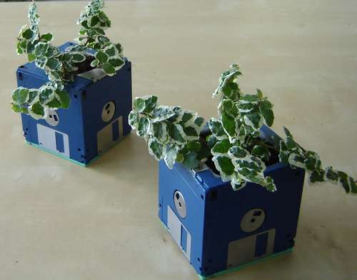 Floppy Disk Planter Pinboard
