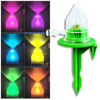 Color Changing Sprinkler Waters Your Lawn with Style