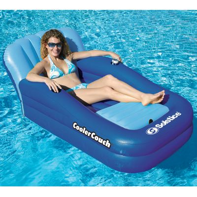 Floating Couch with Cooler Means Never Having to Leave the Pool