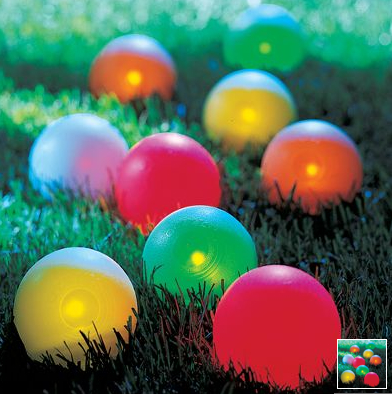 Lighted Bocce Ball Set Lets You Play in the Dark