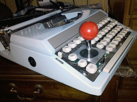 typewriter joystick 2 Typewriter Joystick Makes Perfect Sense