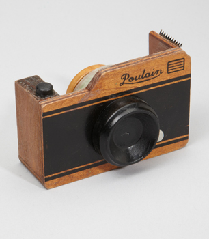 Wood Camera Tape Dispenser