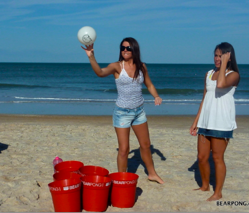 BEARPONG: A Supersized Beer Pong Beach Game