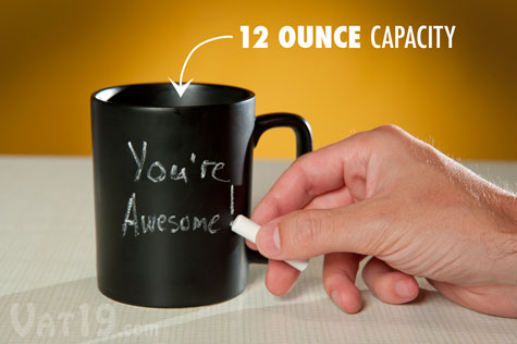 Express-o Yourself with a Chalkboard Coffee Mug