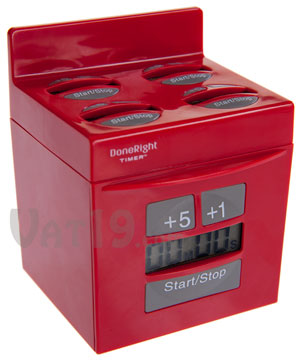 done right kitchen timer red DoneRight Kitchen Timer is 5 Timers in One