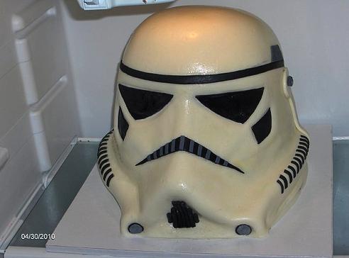 imperial stormtrooper grooms cake Stormtrooper Helmet Grooms Cake