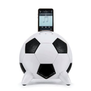 misoccer ipod dock Get World Cup Ready with a Soccer Ball iPod Dock