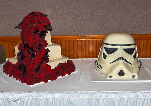 Stormtrooper Helmet Groom's Cake