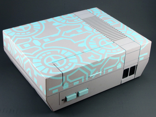 Glowing Tron Themed NES Mod