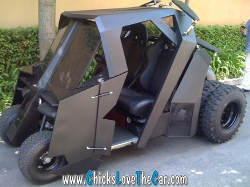 World's Coolest Golf Cart: Batman Tumbler