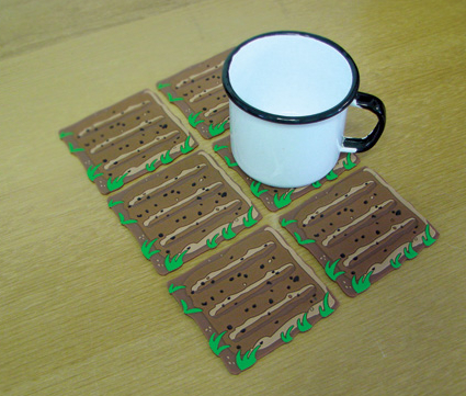 Farmville Land Coasters Bring Virtual Farming to Your Breakfast Table