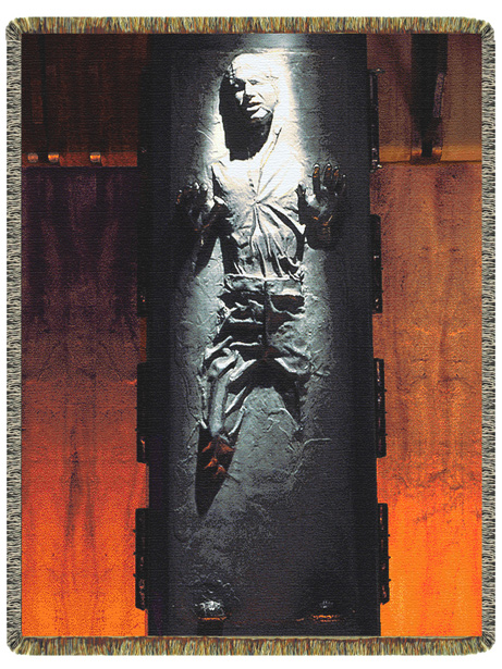 han solo carbonite rug Han Solo Frozen in Carbonite Woven Throw