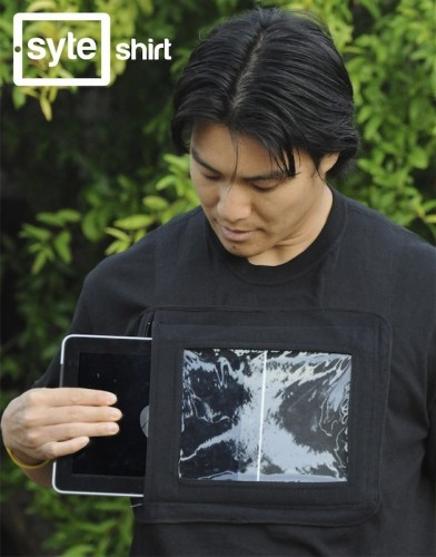 Be a Human Billboard: iPad Holding Shirt