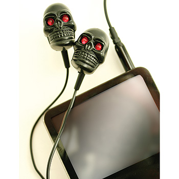 skull led headphones Light Up Skull Earphones