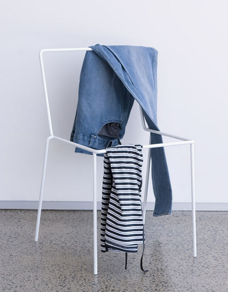 Empty Frame Chair is Ideal for Hanging Clothes On