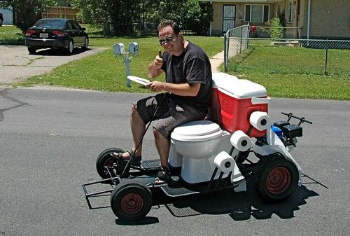 2 Seater Toilet Go Kart Really Puts the Go in Go Kart