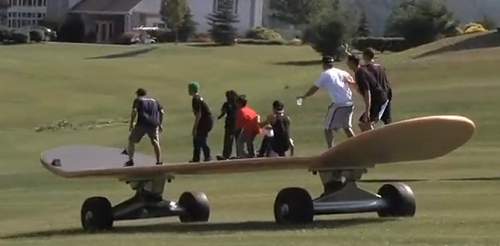 World's Largest Skateboard is Insanity on Wheels