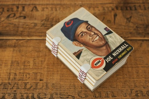 Vintage Baseball Cards Made into Notepads