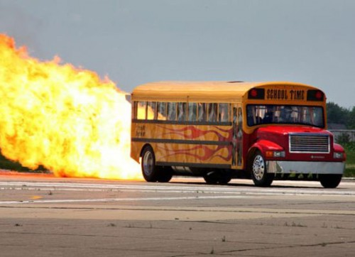 Jet Powered School Bus Makes Otto Go Blotto