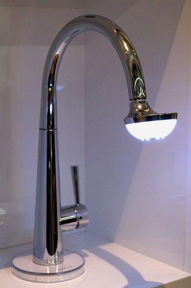 Nobili Spa Sun Lamp Faucet Lights Up Your Sink