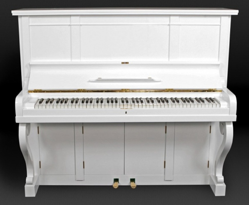Piano with a Pop-Up LCD TV