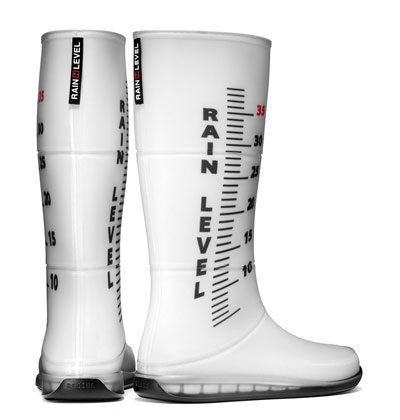 Rain Level Boots Tell You How Screwed You Are