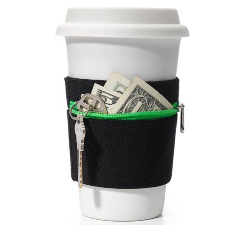 RuMe Cuff Adds a Wallet to Your Coffee Cup