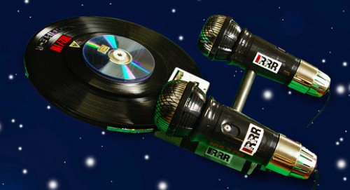 Space. The Vinyl Frontier.  Microphones and Records Star Trek Enterprise