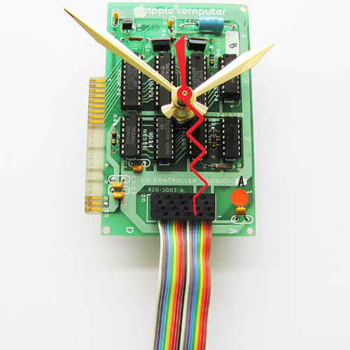 Vintage Apple Computer Circuit Board Clocks