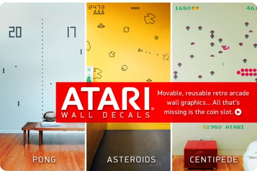 atari decals 500x333 Atari Wall Decals