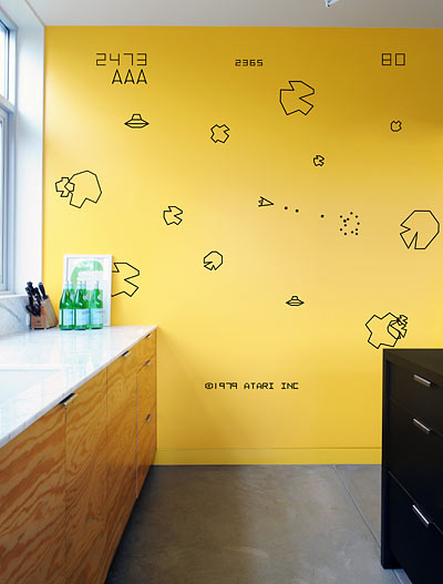 atari wall decals asteroids Atari Wall Decals