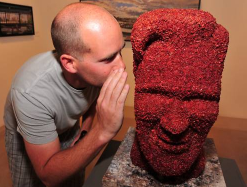 Giant Kevin Bacon Head Made of….Bacon