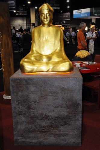 Gold Covered Buddha Statue Speaker
