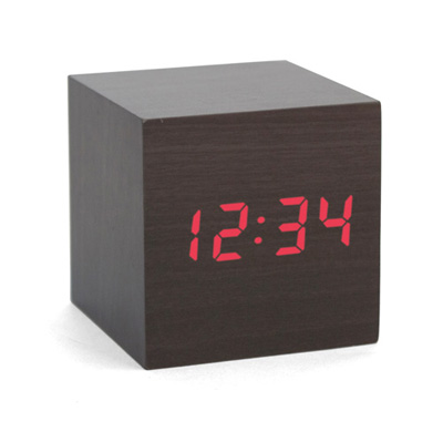 Cube Clock Claps On