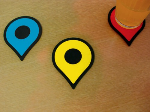 Google Map Pin Coasters