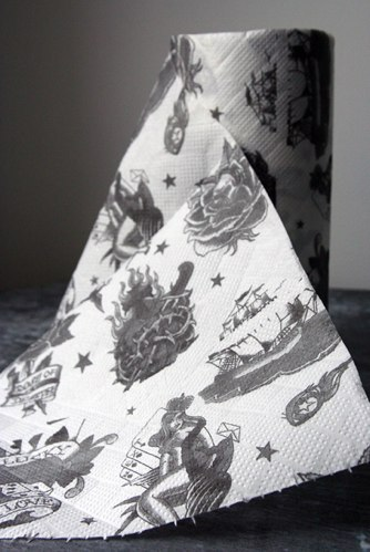 Tatoo Designs Paper Towel Rolls