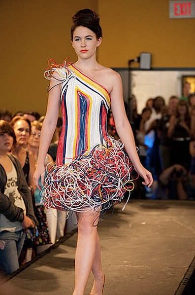 Recycled Computer Wires Dress