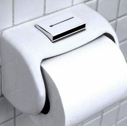 Matchbox Holding Toilet Paper Dispenser
