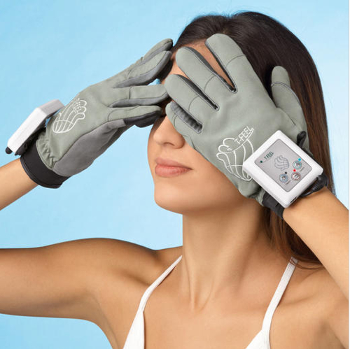 vibrating massage glove face Vibrating Fingers Massage Gloves