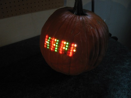 Halloween Pumpkin with Scrolling LED Matrix Display