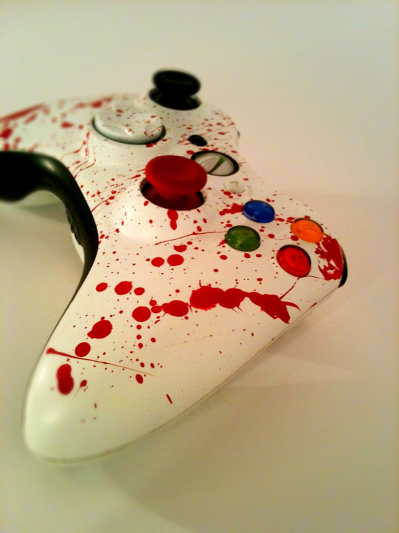 blood splattered xbox controller2 Murder over used Xbox in North Carolina