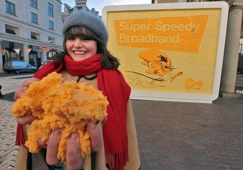 Giant London Billboard Made of Real Cheese