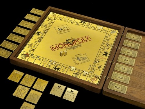 $2 Million Gold and Jeweled Monopoly Board