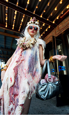 lady gaga meat dress 2 Pinboard