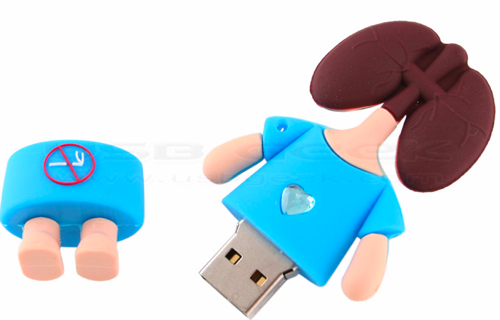 Lung and Liver Head Figurine USB Drives